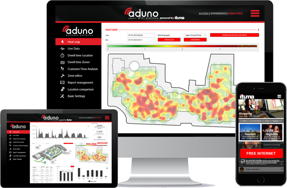 aduno Wi-Fi Solutions - mobile experience, digital services and relevant insights