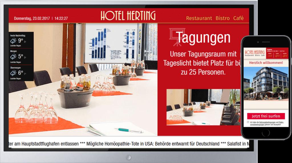Hotelgäste-WLAN und digitale Services