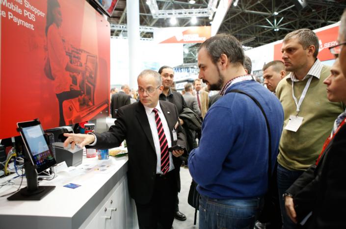 Vorstellung der WLAN-Lösung aduno Enterprise auf der EuroCIS Messe 2016 in Düsseldorf